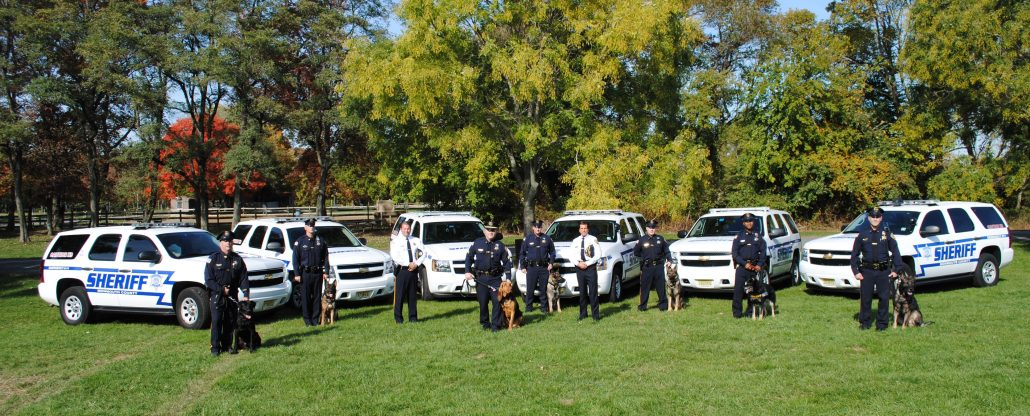 Sheriff Golden, Undersheriff Mickey Donovan Jr. and the K-9 Unit