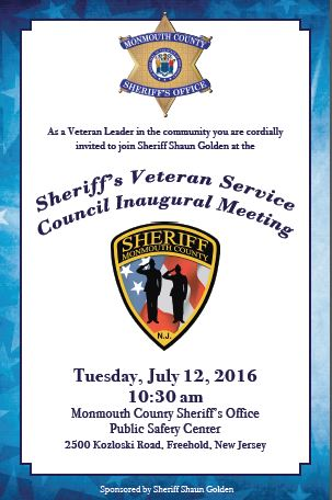 Sheriff's Veteran Service Council Inaugural Meeting