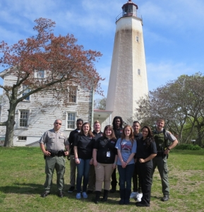 Explorer Post #1 with US Park Rangers Chief Rob Louden and Ranger Houvalic at Sandy Hook