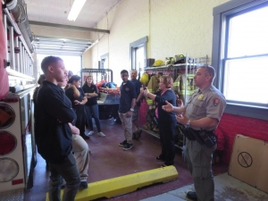 Chief Rob Louden explains who the fire department works in conjunction with the Park Rangers at Sandy Hook